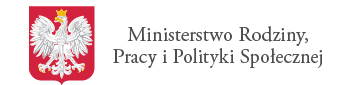 logo ministerstwa - herb Rzeczypospolitej i napis